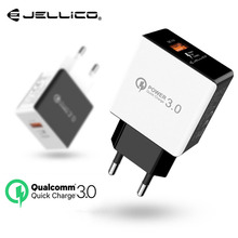 Jellico Quick Charge 3.0 Mobile Phone Charger 18W Fast USB Charger QC3.0 FCP Universal For Xiaomi iPhone Samsung Huawei EU Plug