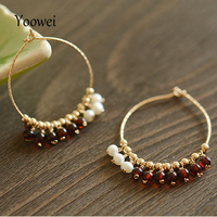 Yoowei 3 5mm Natural Amber Earrings For Women 100 Real Baltic Cherry Beads Natural Pearl Tiny