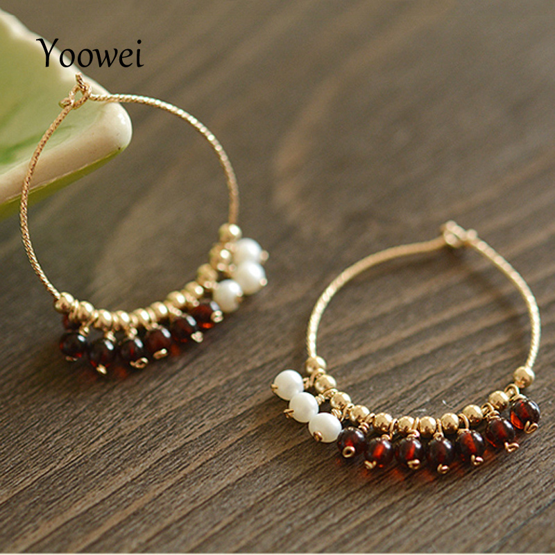Yoowei 3.5mm Natural Amber Earrings for Women 100% Real Baltic Cherry Beads Natural Pearl Tiny Tassel Jewelry Chandelier Earring цена