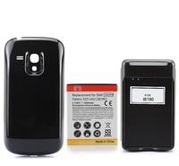 Rozszerzona Backup 3500 mAh Akumulator + Czarny Back Cover + USB Ściany Ładowarka Dla Samsung Galaxy SIII S3 Mini i8190 hurtownie