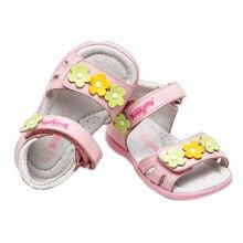 1 пара детских ортопедических сандалий из натуральной кожи с милым цветком для девочек внутренняя часть 12,3-15,1 см Высококачественная детская обувь на мягкой подошве