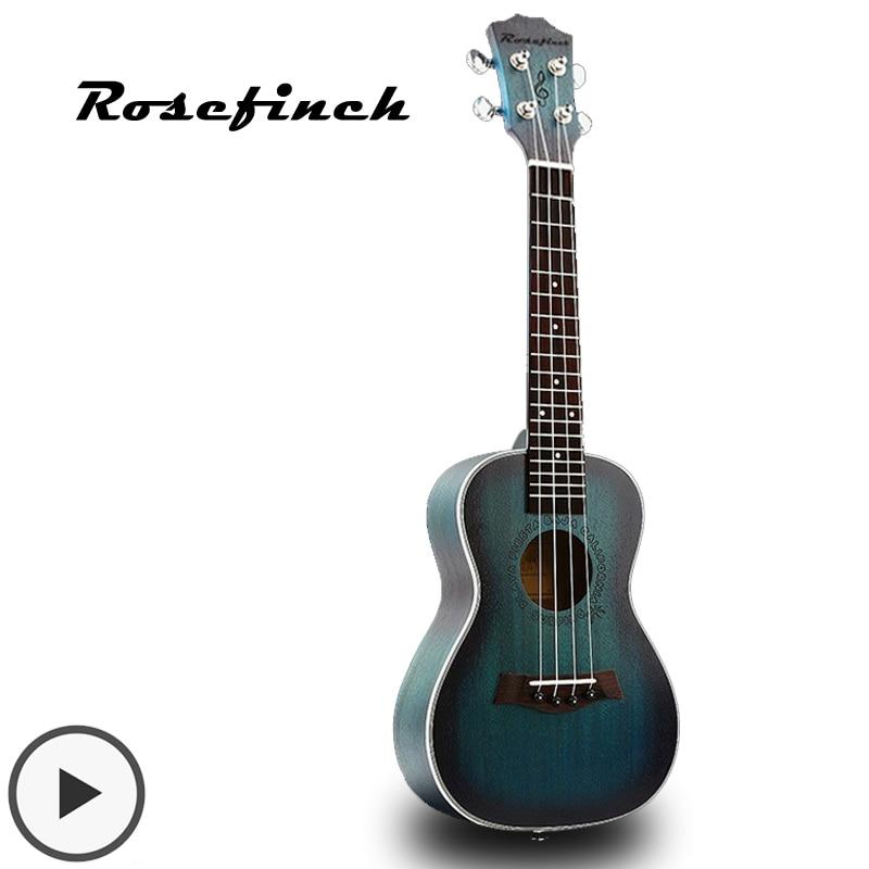Mini Aquamarin Farbe Konzert Ukulele Saiten Hawaiian Gitarre Akustische Gitarre 23 zoll Ukulele Mahagoni Geschenk Kid Anfänger UK2329