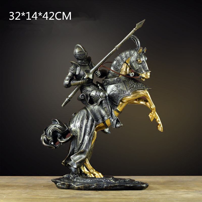 Retro Ranger's Apprentice Statue Figure Bust Model Resin Craftwork Home Furnishing Articles L2422 [new] the walking dead zombie head action figure model resin crystal car ornament home desk decoration furnishing articles gift