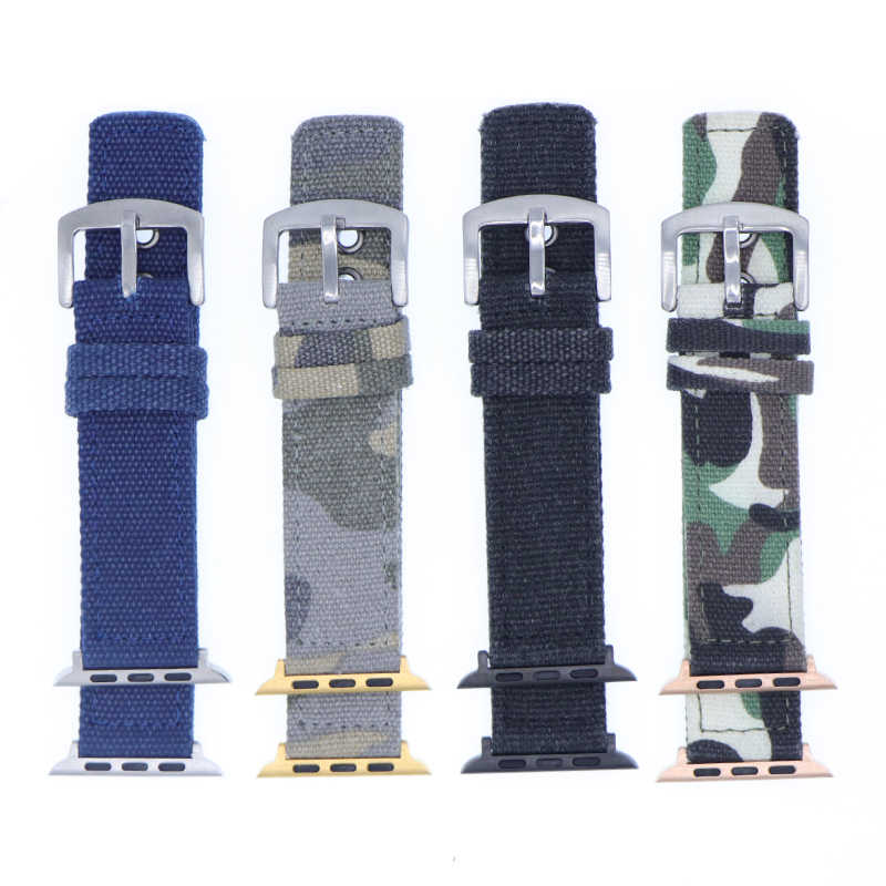 Camouflage Nylon Band Strap Watchband for Apple Watch Band Series 3/2/1 Sport Bracelet 42 mm 38 mm For iwatch Band