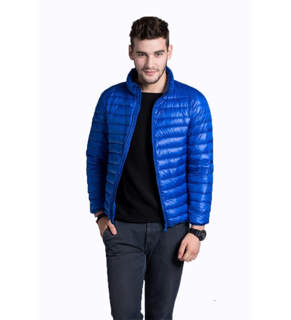 90% утка Подпушка Для мужчин пальто Зимняя ультра легкая тонкая теплая куртка Повседневное 2018 uhlulc