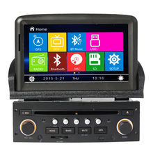 High Configure for peugeot new 307 Steering Wheel Control Bluetooth Rear Camera Canbus free map phonebook usb Wince 6.0 system
