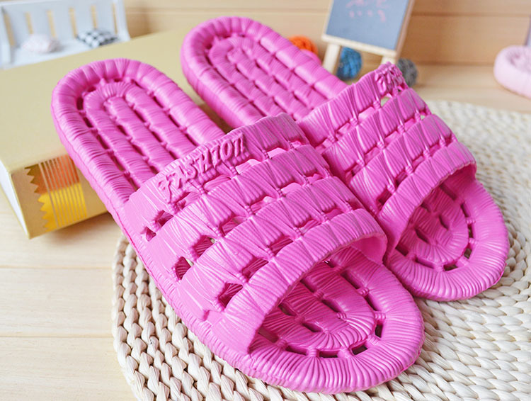 New summer breathable men and women bathroom slippers home couple EVA non slip massage soft bottom home slippers in Slippers from Mother Kids