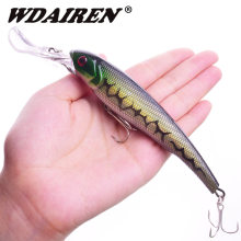 WDAIREN Japan Fishing Big Wobblers Minnow Hard Lure 160mm 28g Deep dive Plastic Artificial Hard Bait 3D Eyes Crankbait Swimbait(China)