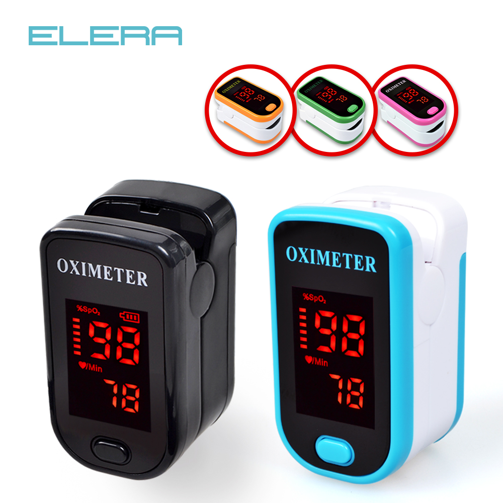 FREE SHIPPING Finger Pulse Oximeter w/ Case digital