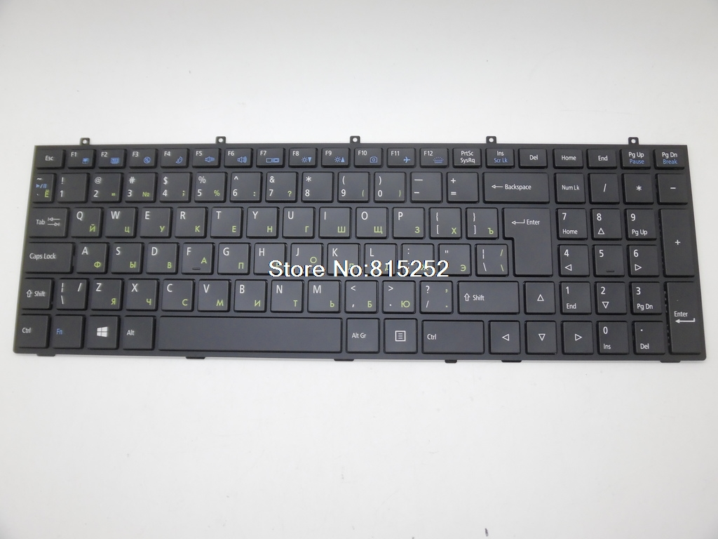Laptop Keyboard With Backlit For CLEVO W370ET MP-13H86SUJ4304 MP-12A36SU-430 MP-12A36SU-4304W RU-Russian Series Black Brand New new gr keyboard for hasee k350c k350s for clevo w230st w230ss w230sd black german laptop keyboard mp 13c26d0j430