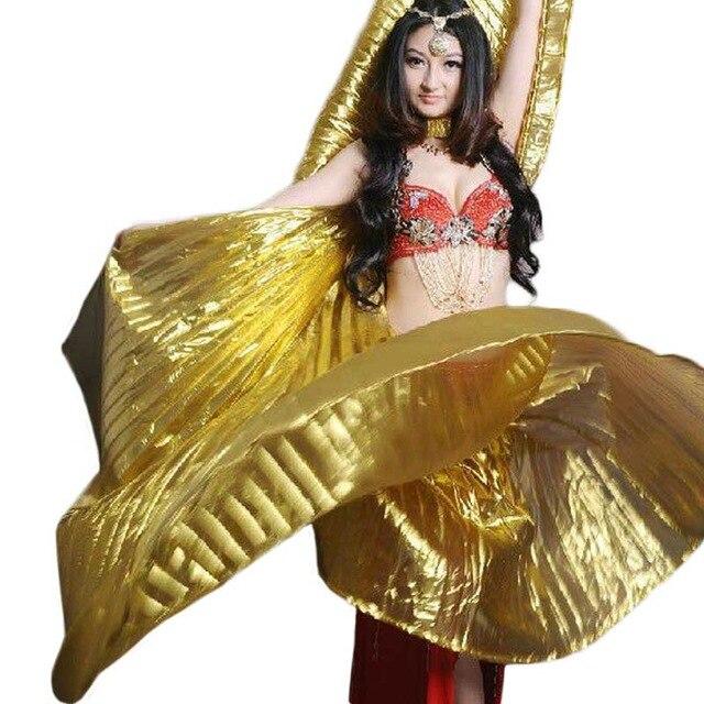 a8f4940e268 Лидер продаж 2018 года  популярные женские Египетский Танец живота Isis  Крылья золотые в продаже 10 Цвет Горячая оптовая продажа (не палка)