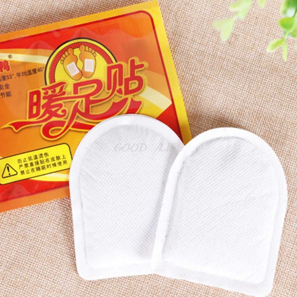 2Pcs/Pair Winter Foot Warmer Sticker 8 Hours Strong Lasting Heat Pad Insole Adhesive Patches Paste Feet Care Tool Foot Patch
