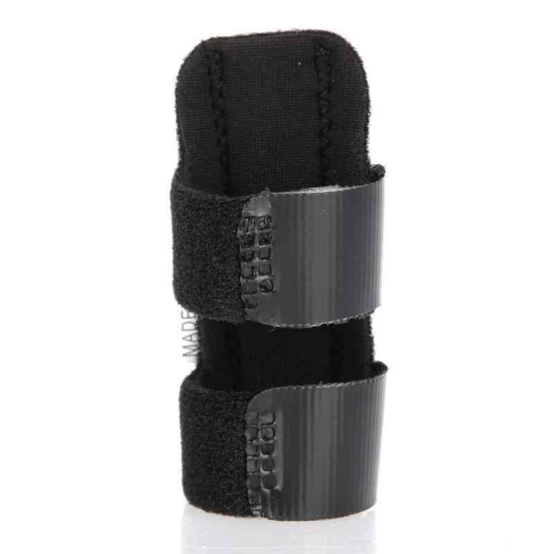 1 Pcs Adjustable Pereda Nyeri Aluminium Belat Jari Patah Perlindungan Brace Korektor Penopang dengan Adjustable Pita Perban