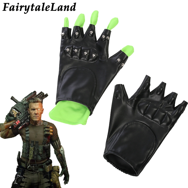 Deadpool 2 Cable Cosplay Gloves Superhero Carnival Halloween Cosplay Accessories Deadpool Cable Gloves Sleevelet Free shipping