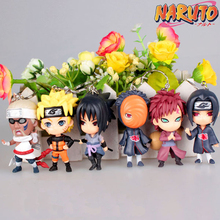 1pc random Character  Anime  Naruto Sasuke ITACHI  Keychain Keyrings Pendant Action Figures Anime PVC  Figures death note anime character figures 8 piece set