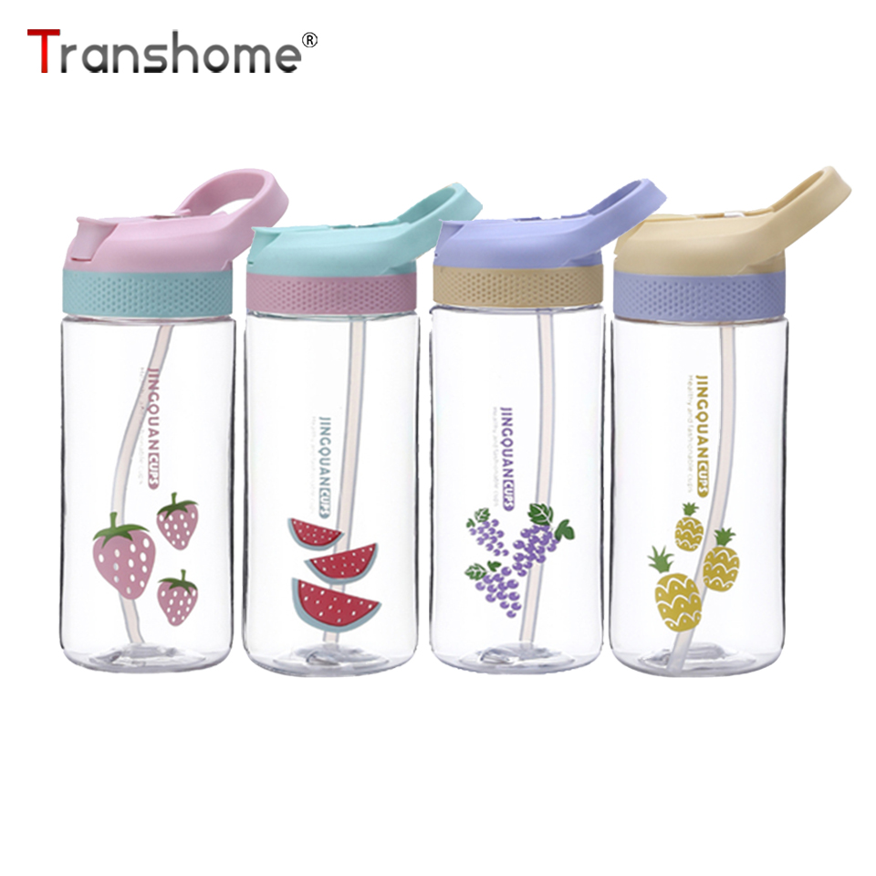 Transhome Water-Bottle Plastic Outdoor Sports School-Drinware with for Kid Children