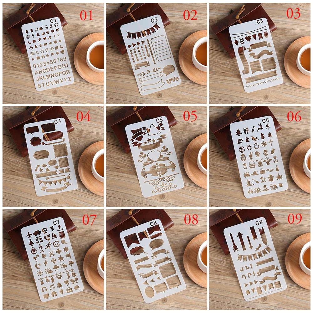 1Pcs Hot Koop DIY Draagbare Bullet Journal Stencil Plastic Stencils Journal/Notebook/Dagboek/Scrapbooking Template Hollow heerser