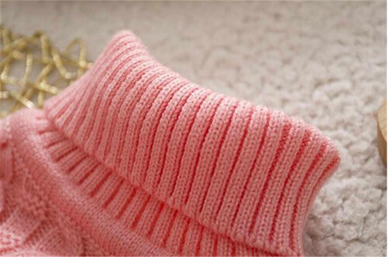 BibiCola wysokiej jakości dziewczynek chłopców swetry swetry z golfem jesień zima ciepłe kreskówki niemowlę dziecięca odzież wierzchnia kurtki