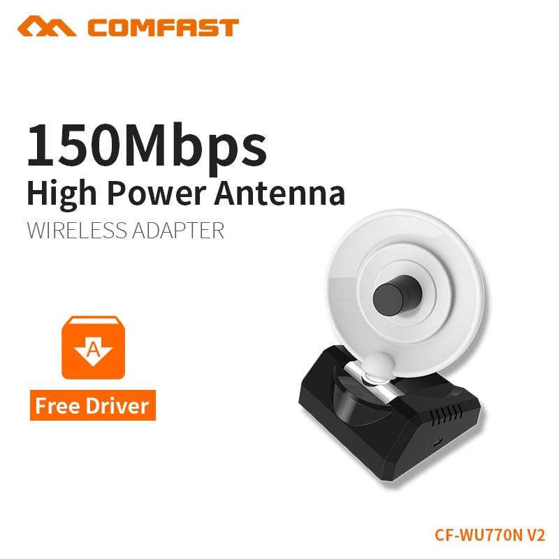 USB Wifi Adapter Wireless Wi-fi Adapter Usb Wifi Antenna 150Mbps 2.4Ghz Computer Network Card 10dBi Antenna Comfast CF-WU770N V2