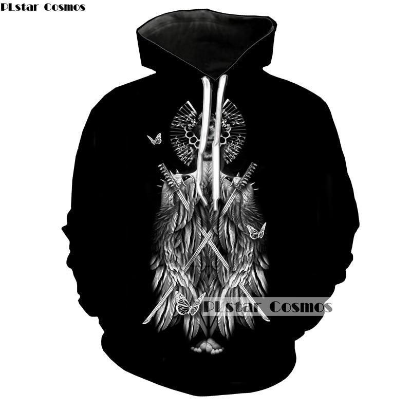 PLstar Cosmos Brand 2018 Long-sleeved round neck 3D Print hoodies Street Casual sweatshirts Man Woman Coolcoat 5XL