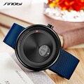 Мужские кварцевые часы SINOBI  часы из нержавеющей стали синего цвета  2019
