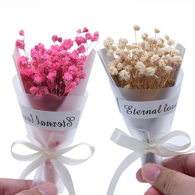 1 шт./партия Мини Gypsophila натуральные сухие цветы для свадьбы украшения для самодельного изготовления Упаковка подарков небесные звезды цветы реквизит для фотографий