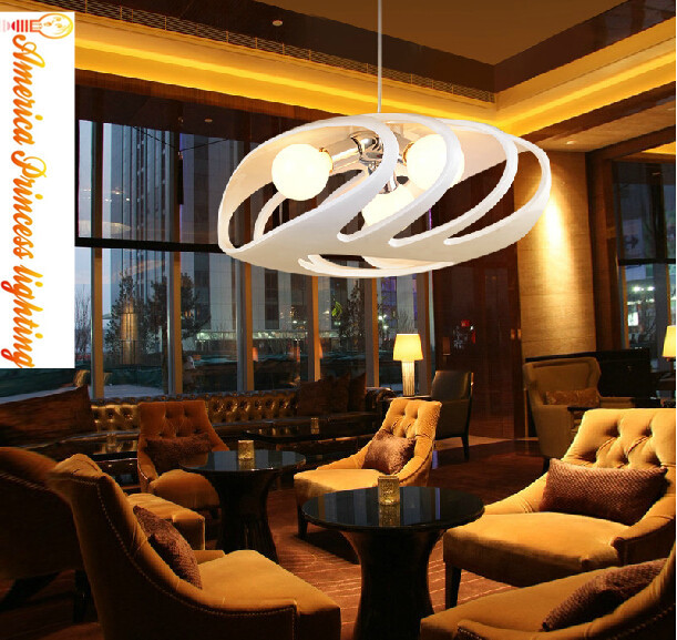 Modern creative restaurant Parlor Bar personality resin white three art chandelier, Material: Resin, E27, AC110-240V european rural bird marble hemp rope chandelier cafe restaurant corridor balcony chandelier size 33 38cm e27 ac110 240v