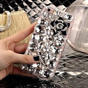 Image 4 - LaMaDiaa Bling Strass Cristal Diamant Renard et Couronne Arrière Souple Housse de Téléphone Pour iPhone 12 11 Pro Max XR X 6 Plus 7 8 Plus