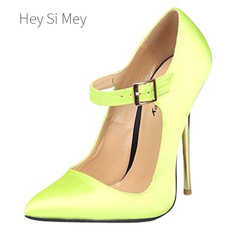 2018 Plus Size 40-49 Fashion Yellow Silk Sexy High Heels for Women's Pumps with Female Shoes Woman Wedding Ladies Red Black 2018 plus size 40 50 summer style fashion red sexy high heels for sandals women s with female shoes woman wedding ladies black