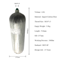 AC2680 DOT Composite Carbon Fiber Gas Cylinder 300Bar Certification For Diving Paintball Tank Acecare