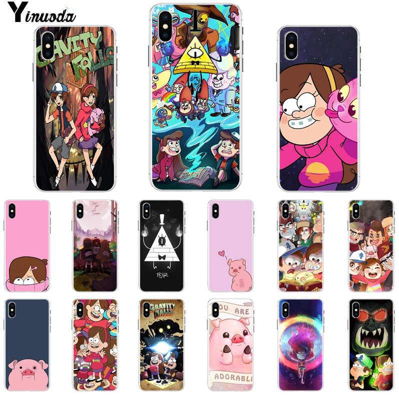 Yinuoda Phim Hoạt Hình Trọng Lực Rơi Anime Sơn Mềm TPU Trường Hợp Điện Thoại đối với iPhone X XS MAX 6 6 S 7 7 cộng với 8 8 Cộng Với 5 5 S XR
