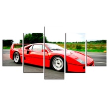 5 Pieces HD Painting Ferrari print canvas painting Photo painting Prints Wall Pictures for Living Room Picture