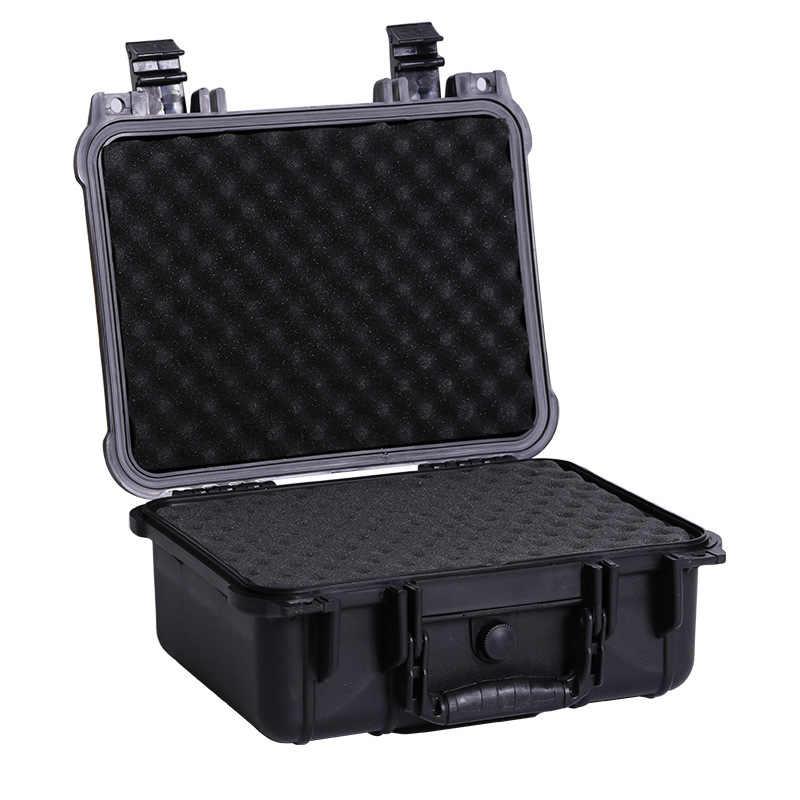 ABS プラスチック密封された防水安全機器楽器ケースポータブルツールボックスドライボックス耐衝撃性事前カット泡