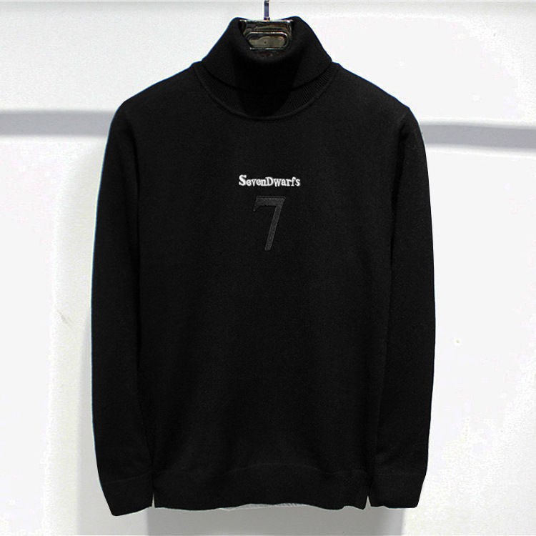 New 2019 Man Luxury Embroidered 7 Seven Dwarfs Knit Casual Sweaters Pullovers Asian Plug Size High Quality Drake #J62