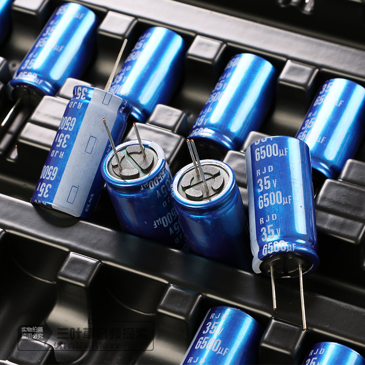 2018 Hot Sale 5PCS/10pcs ELNA Blue Robe Electrolytic Capacitor 35v 6500UF 18*35MM Can Replace 35v6800UF Free Shipping