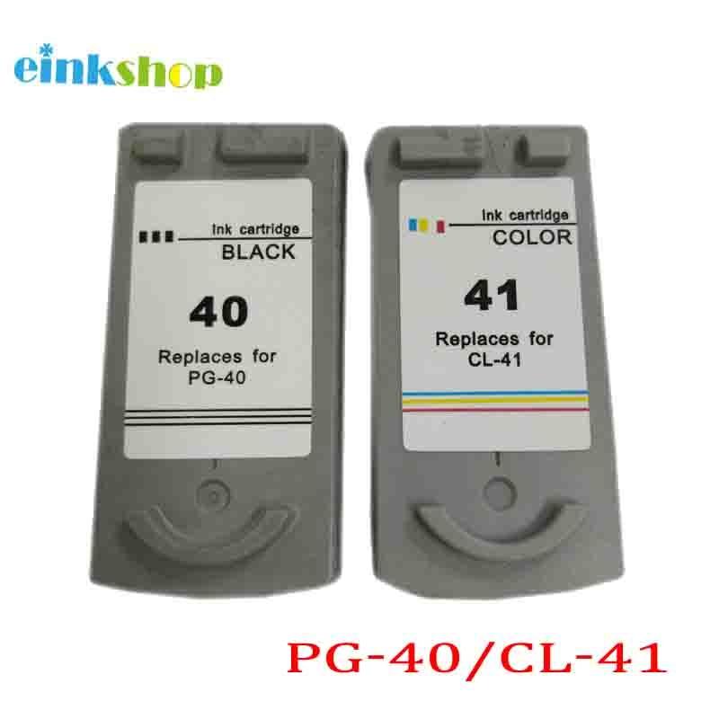 1Ajuste PG-40 CL-41 para Canon PG40 CL41 Cartucho de tinta para Canon Pixma MP140 MP150 MP160 MP10 MP190 MP210 MP450 MP450 MP470 IP1800