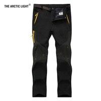 Man Warm Winter Waterproof Fishing New Trousers Trekking Hiking Pants Men Softshell Outdoor Travel Plus Size