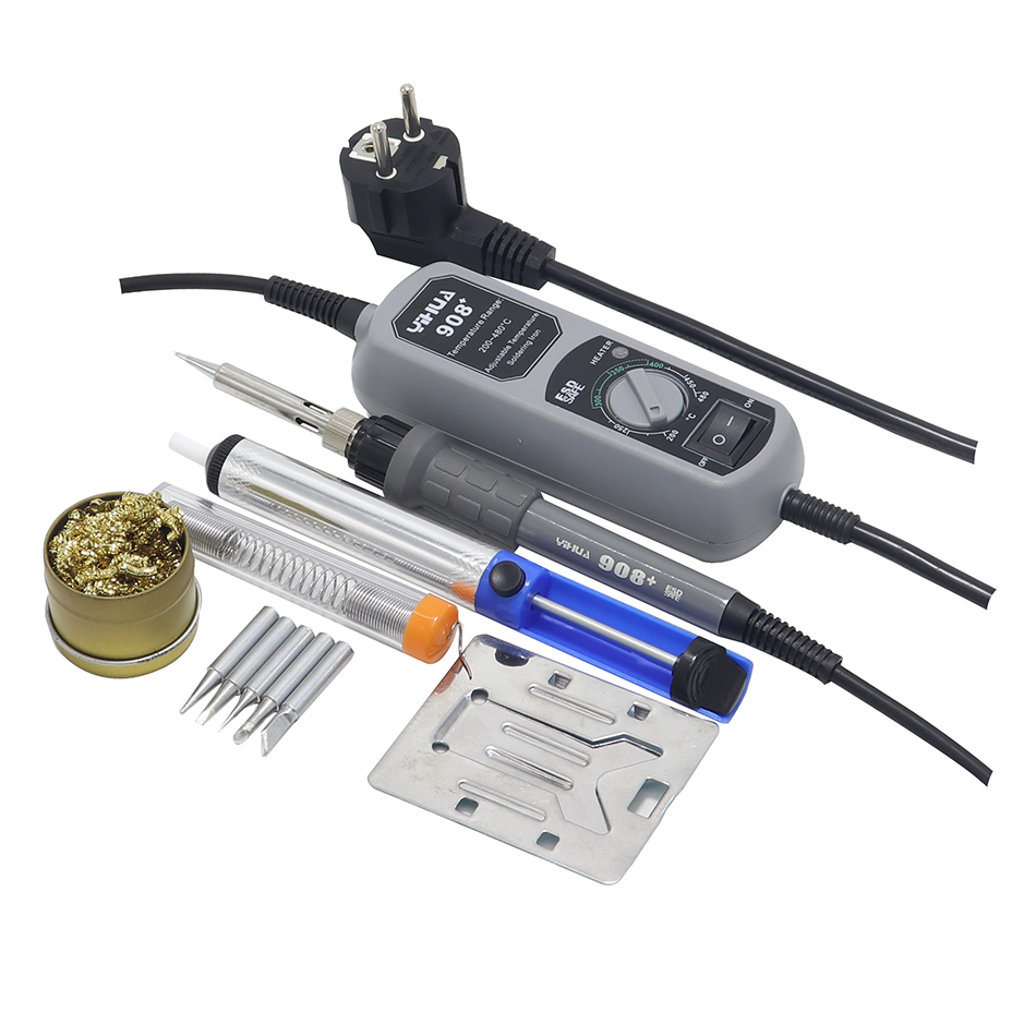 YIHUA 908 908D Mini Electric Soldering Irons Portable Adjustable Soldering Tool And Soldering Iron And Suction Cup