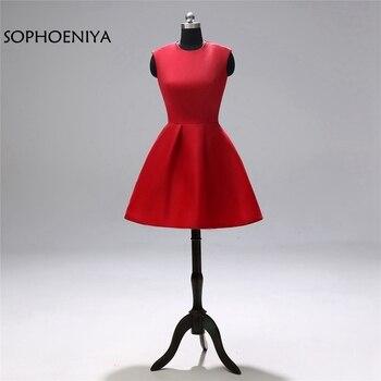 New Arrival Red Short Evening dresses abiye Cheap Evening gown ever pretty abendkleider formal dress vestido de festa 2020