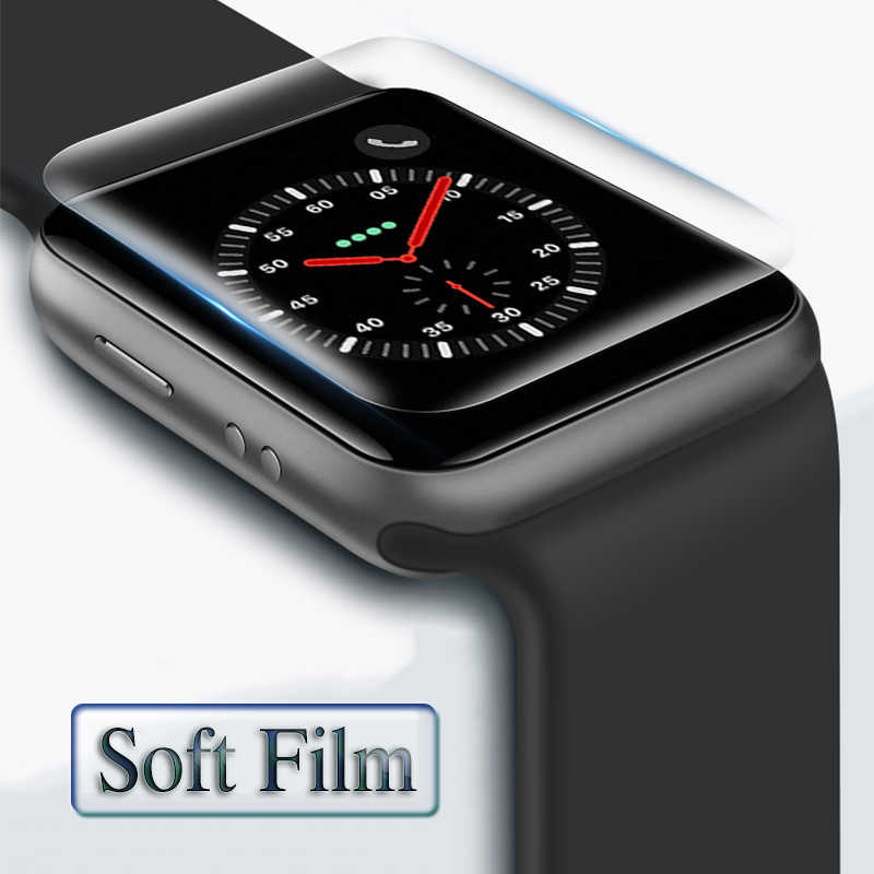 Cover On For Apple i Watch 4 3 2 1 Protective Film 38mm 42mm 40mm 44mm In The 38 40 42 44 mm Soft Screen Protector (Not Glass)