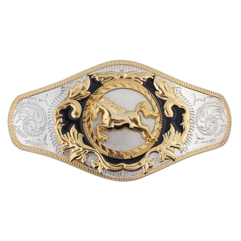 Golden Horse Belt Buckle Super Large Double Color Alloy Smooth Buckle