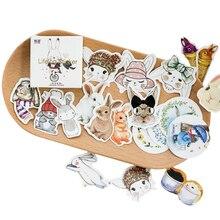 45pcs/pack Kawaii Stickers Cute Rabbit Hand Book Album Decoration DIY Diary Notebook Gift Scrapbooking