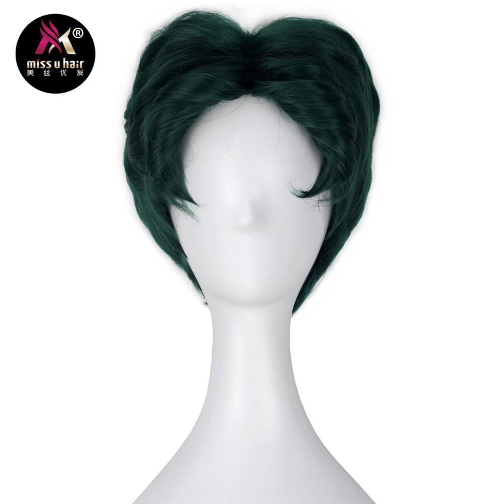 Image 5 - Miss U Hair Prince Wig Fairy Tale World Short Wavy Brown Green Brown  Grey Hair Movie Cosplay Costume Halloween Role Play Wigswig wigwig brown shortwig short brown -