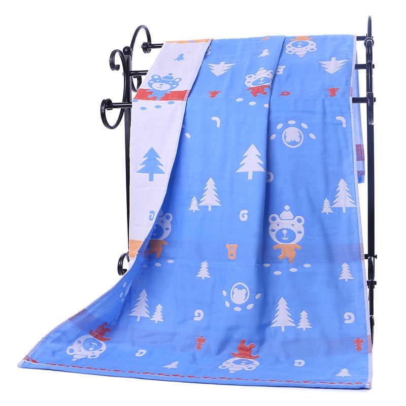 Dropshipping Katoen Gaas Volwassen Cartoon Badhanddoek Textiel Grote Dikke Handdoek Hotel Badjas Strandlaken Sjaal Kinderen Deken