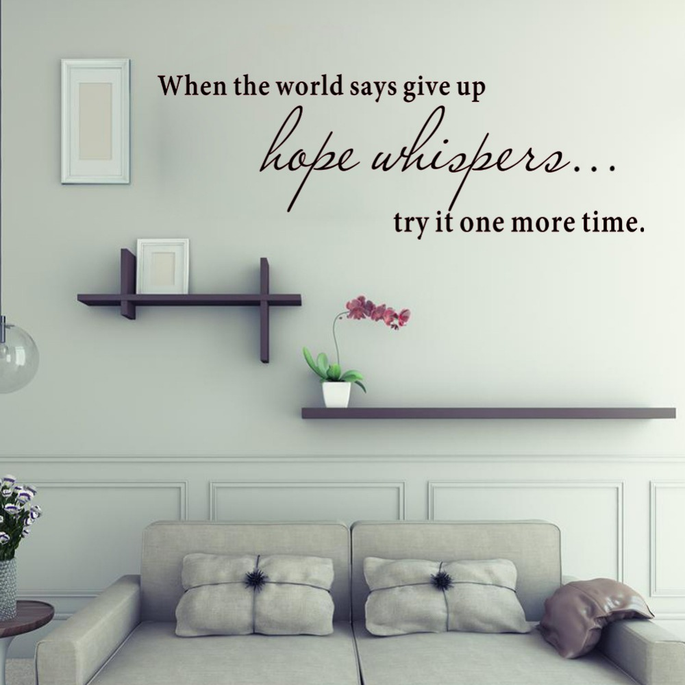 Hope Whispers Wall Stickers For Kids Rooms Removes Art Background ...