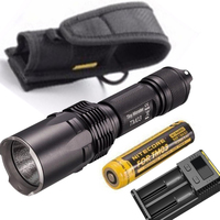 Tiny Monster Series Nitecore TM03 TM03 CRI CREE XHP70 LED Tactical Powerful Flashlight 2800 Lumens with Battery and I2 charger