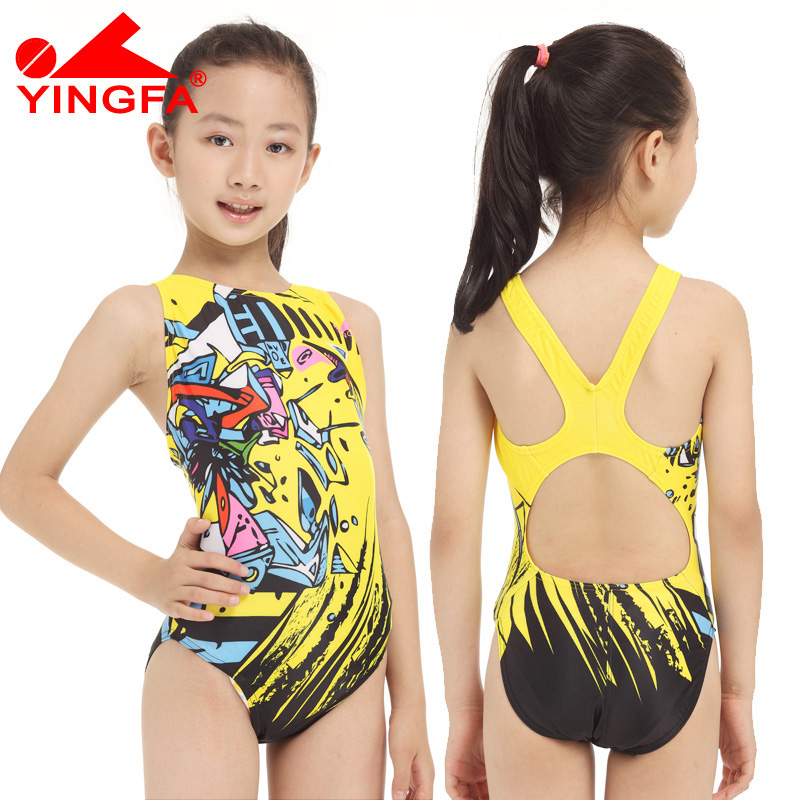 yingfa children girls swimwear kids one piece professional bathing suits racing competition tights printed lady swimming suits yingfa children training swimwear kids swimming racing suit competition swimsuits girls professional swim solid child