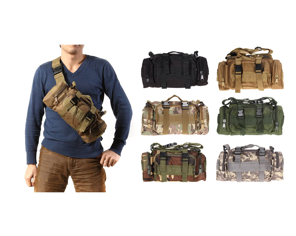 3L/6L al aire libre militar táctico cintura bolsa impermeable Nylon Camping senderismo mochila bolsa de mano bolsa militar estilo mochila