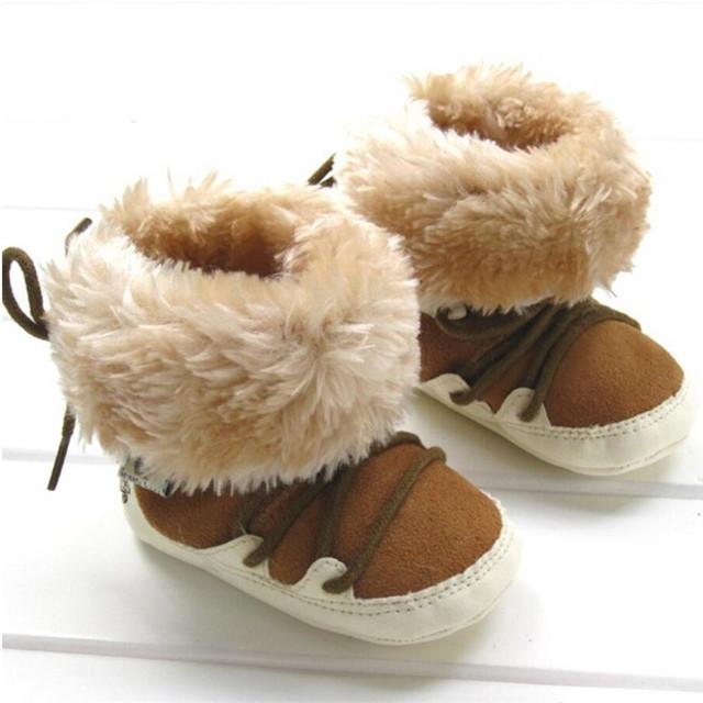 Niños y Niñas de invierno bebé de los niños botas de los niños zapatos de Niño Antideslizante de algodón Caliente 1-674