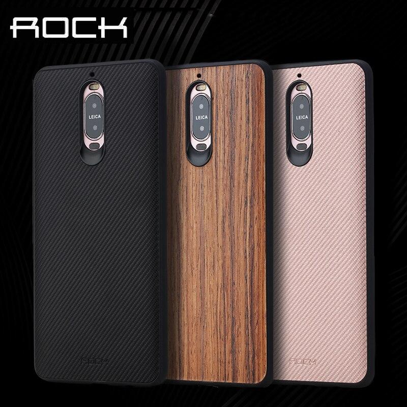 imágenes para ROCA Caja Del Teléfono para Huawei Mate 9 & Mate De Fibra De Carbono 9 Pro Case Grano De Madera Volver cubierta de la Caja para la caja de Protección 9 Pro caso